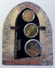 San Marino - St. Francis´ Gate - 2 Cent + 20 Cent + 2 Euro 2005 Proof Box
