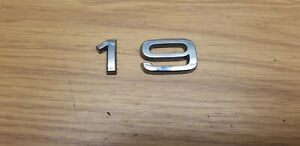 AUDI A3 Rear Trunk Emblem Badge Decal 1 & 9  #1232_S