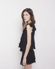 "NWOT $590 Isabel Marant ""Purd"" Runway Mini Skirt SZ 36 Lace Ruffle Embroidered"