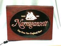 Narragansett beer sign lighted motion fiber optic light vintage bar New England