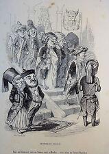 Caricature Humour GRANDVILLE Jérome Paturot REYBAUD Académie de Famille 1846