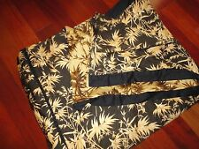 TOMMY BAHAMA AMBER ISLE BLACK BAMBOO KING DUVET COMFORTER COVER 100 X 88