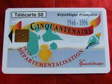 RARE TELECARTE - F 628A - GUADELOUPE - GEM 1B - CINQUANTENAIRE - TTBE - Cote 12€
