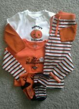 GYMBOREE OLD NAVY Sz 12 18 Mos First Halloween Pants Set & Pumpkin Bodysuit Lot~