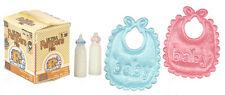 Baby Set, Doll House Miniature. 1.12 Scale Nursery Accessory