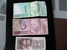 WORLD CURRENCY BRAZIL AND CHINA