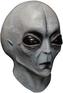 Area 51 Alien Latex Mask E.T. Halloween Adult Size Mask