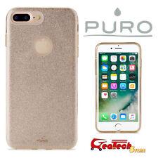 Puro SHINE COVER Custodia Anti-Shock Per iPhone 7 Case TPU Slim Glitter ORO GOLD