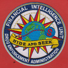 DEA DRUG  ENFORCEMENT ADMINISTRATION FINANCIAL INTELLIGENCE UNIT POLICE  PATCH
