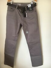 George Bnwt Taupe W36 L33 Cotton Jeans With Belt <T13022