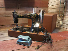 "Vintage ""THE FREE"" Sewing Machine Co. Chicago With Cabinet!"