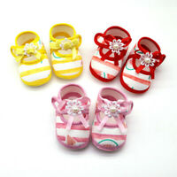 Newborn Baby Girls Watermelon Printing Prewalker Sole Sandals Single Shoes