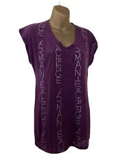 WOMENS ARMANI EXCHANGE ALL -OVER PRINT TOP SIZE MEDIUM