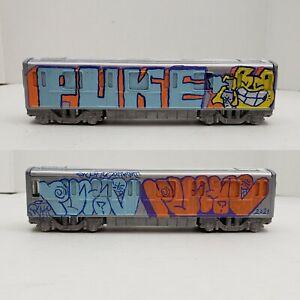 "PUKE NYC Urban Art 7"" MTA NYC subway Train Graffiti art die cast"