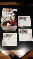 PRISON BREAK PACK TEMPORADAS 1-2-3 COMPLETAS 17 DVD DELUXE EDITION BOX CAJA - AM