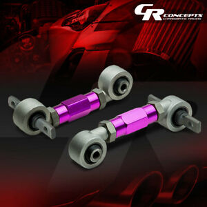 ADJUSTABLE STAINLESS STEEL REAR CAMBER KIT ARMS CIVIC/INTEGRA/DEL SOL/CRX PURPLE