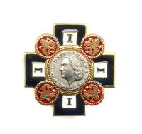 "RUSSIAN MEMORABLE AWARD BADGE ""EMPEROR PETR I"" PETER I WITH DOCUMENT"