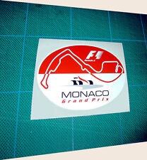Motor Sport Monte Carlo Monaco GP F1 racing car sticker 150mm wide 4.5 inch x1