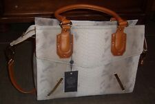 NEW NWT Vince Camuto Annette Leather Snake Python Satchel Handbag Purse $328