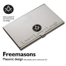 Silver Masonic Business Card Case Freemason Mason Live Love Laugh Present Gift