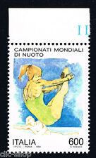 ITALIA 1 FRANCOBOLLO CAMPIONATI MONDIALI DI NUOTO TUFFATRICE 600 L. 1994 nuovo**