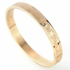 Stars Gold Open Stainless Steel Titanium  Faith Bangle Bracelet Men Jewelry New