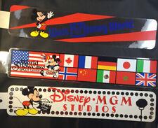 3 WALT DISNEY PARKS Car Bumper Stickers. Vintage.  Great Condition