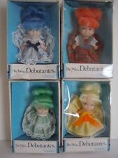 RARE SET OF 4  PEE WEE DOLLS VINTAGE 1973 UNEEDA PEE WEE DEBUTANTES LOVELY DOLLS
