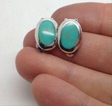 Clip Turquoise Fine Earrings