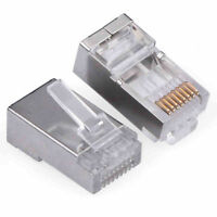 20pcs Cat 5 RJ45 Ethernet LAN Network Connectors Cat 5e rj45 8p8c Shielded Plug