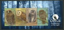 2016 Owls!  Guardians of The Night - MUH Mini Sheet