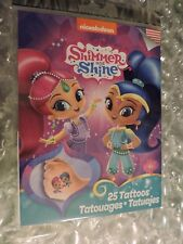 Shimmer and Shine, 25 Temporary Tattoos Ages 4+, Made in USA