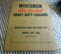 Wisconsin Air Cooled Heavy Duty Engine ACN BKN Manual Instruction Part List
