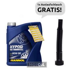 80W-90 GETRIEBEÖL 4 Liter MANNOL Hypoid API GL 4 GL 5 + Auslaufschlauch