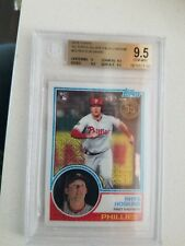 2018 Rhys Hoskins Topps Chrome Silver Pack # 35  RC Rookie BGS 9.5 Gem Mint Phil