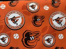 baltimore orioles cotton fabric By The 1/4