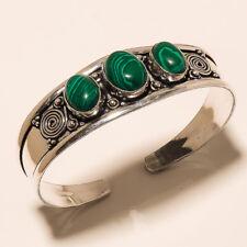 New Cuff Bangel Silver Plated Malachite Gemstone Handmade Fashion jewelry