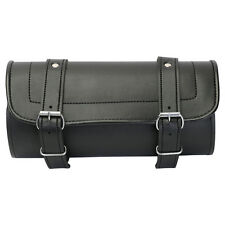 New Leather Plain Motorcycle Tool Bag / Roll / Saddle - Luggage