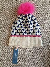 John Lewis Wool Mix Heart Bobble Hat BNWT RRP £22