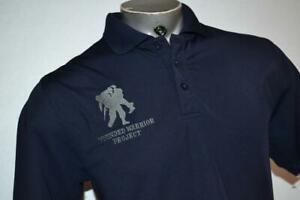 26024-a Mens Under Armour Golf Polo Shirt Wounded Warrior Project Size Medium