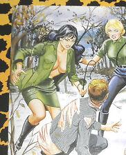 Eric STANTON Fetisch Kult Erotik Postkarte Akt Bdsm Zeichnung uniform High heels