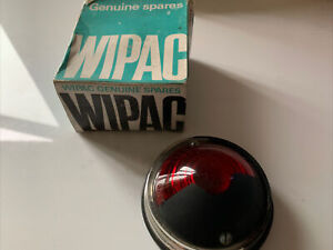 Wipac Classic Vintage Kit Car Round Lamp Half Red / Black 2 Bolt Fixing Chrome