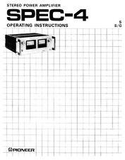 Pioneer SPEC-4 Receiver Owners Manual