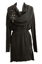 Victoria Secret 55E Kiss of Cashmere Multi-way Sweater Knit Embellish Dress S