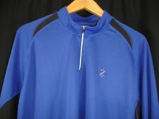 IZOD Perform Carbon Men's Golf Long Sleeve Quarter Zip  Blue Pullover 2XL NWT