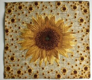 Gobelin Tapestry Panels Sunflowers Flowers Crafting Fabric 19 11/16x19 11/16in