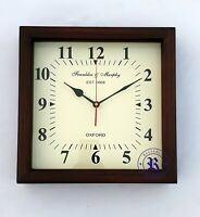 12'' Wooden Square Wall Clock Franklin & Murphy Oxford Best Item For Christmas
