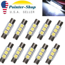 10X 29mm-31mm 5050 3SMD Fuse White LED Vanity Mirror Light Bulb 6641 TS-14V1C US