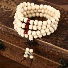 Multi Layered Sandalwood Beads Beaded Elastic Bracelet Chinese Knot Pendant D
