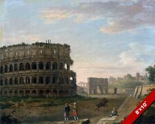 THE COLLOSEUM OF ANCIENT ROME ITALY ROMAN RUINS PAINTING ART REAL CANVAS PRINT
